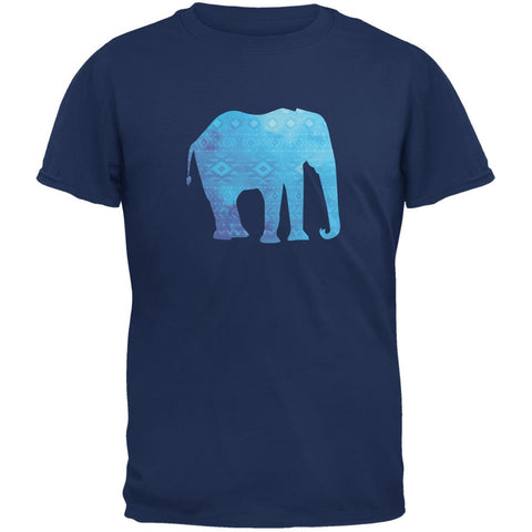 African Spirit Animal Elephant Metro Blue Adult T-Shirt