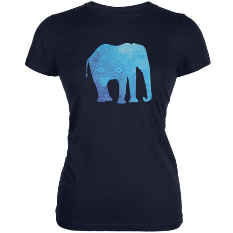 African Spirit Animal Elephant Navy Juniors Soft T-Shirt