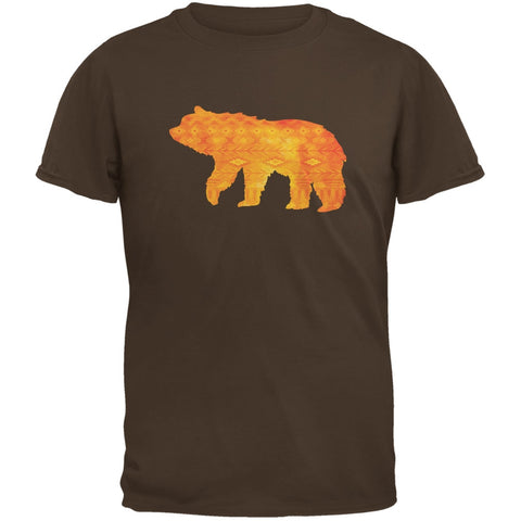 Native American Spirit Bear Brown Adult T-Shirt