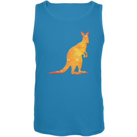 Australian Spirit Animal Kangaroo Turquoise Adult Tank Top