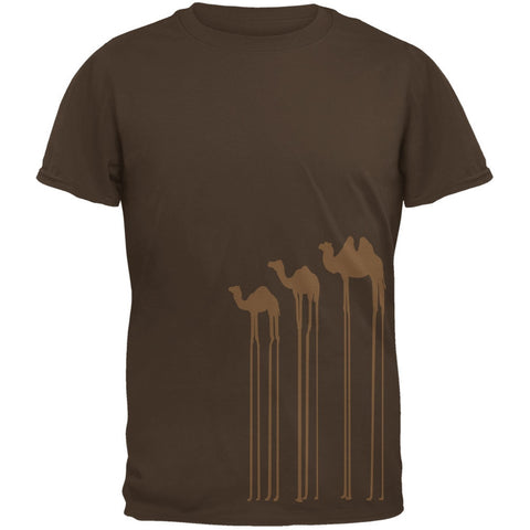 Surreal Camels Brown Adult T-Shirt