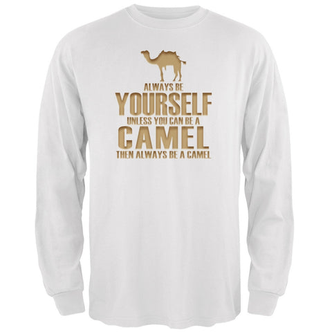 Always Be Yourself Camel White Adult Long Sleeve T-Shirt