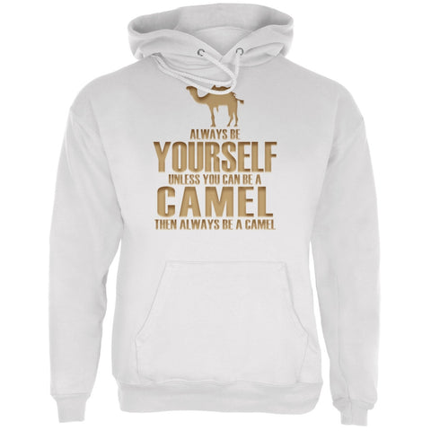 Always Be Yourself Camel White Adult Hoodie