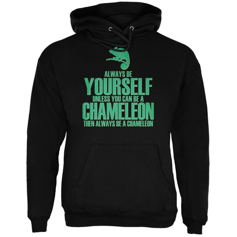 Always Be Yourself Chameleon Black Adult Hoodie