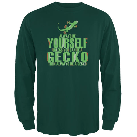 Always Be Yourself Gecko Forest Green Adult Long Sleeve T-Shirt
