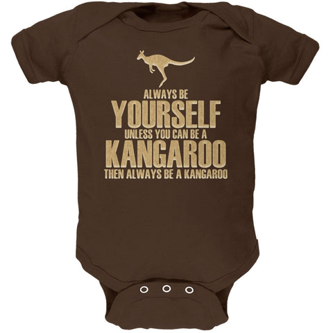 Always Be Yourself Kangaroo Brown Soft Baby One Piece
