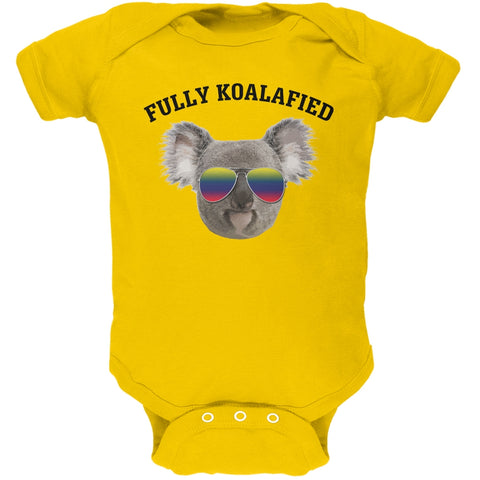 Fully Koalafied Yellow Soft Baby One Piece