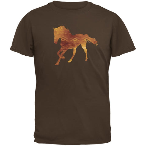 Native American Spirit Horse Brown Youth T-Shirt