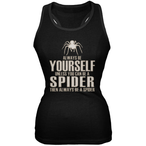 Always Be Yourself Spider Black Juniors Soft Tank Top
