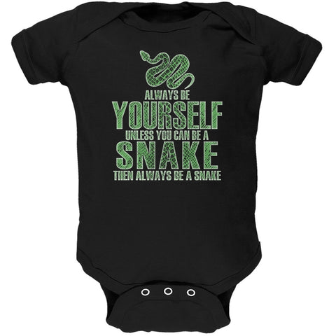 Always Be Yourself Snake Black Soft Baby One Piece