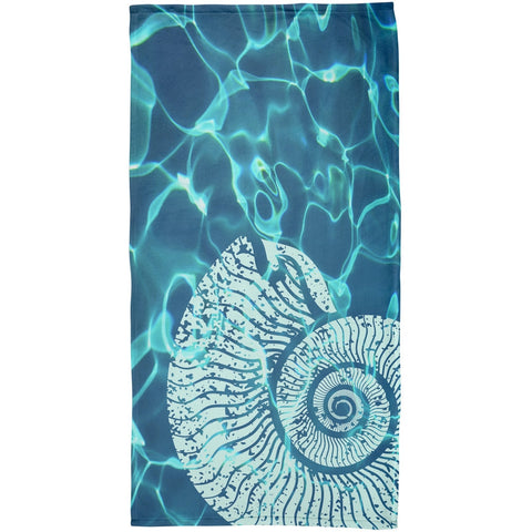 Nautilus Plush Beach Towel