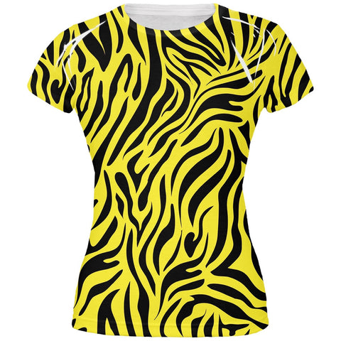 Zebra Print Yellow All Over Juniors T-Shirt