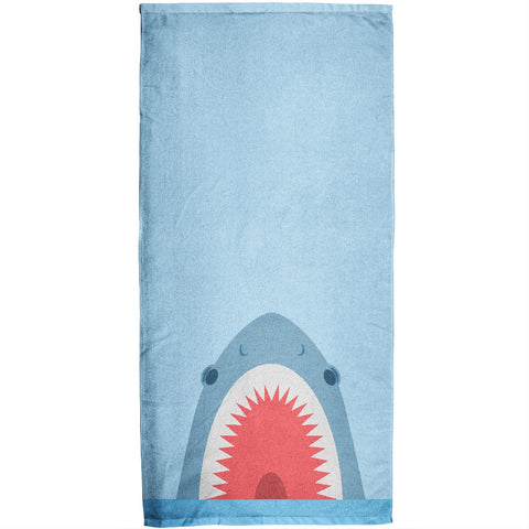 Shark Attack All Over Plush Beach Towel