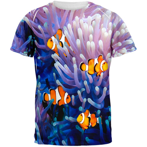 Clownfish Sea Anemone Adult Black Back T-Shirt