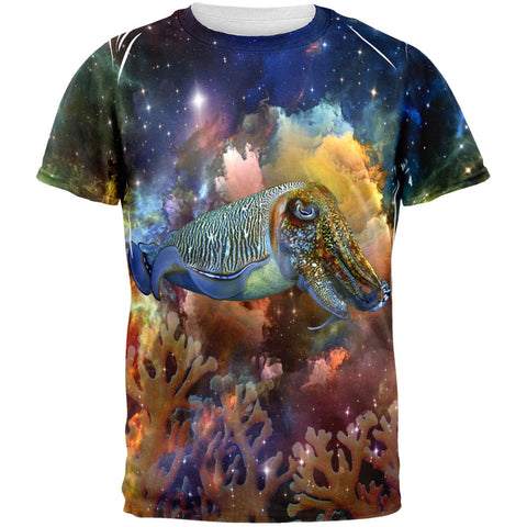 Cuttlefish IN SPACE All Over Adult T-Shirt