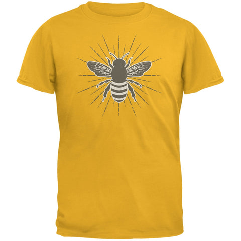Bumble Bee Rays Gold Adult T-Shirt