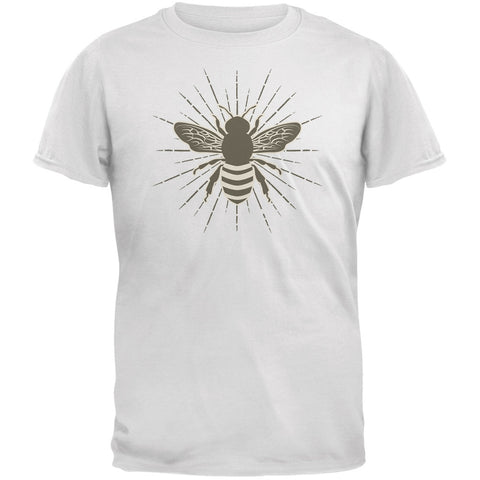 Bumble Bee Rays White Adult T-Shirt