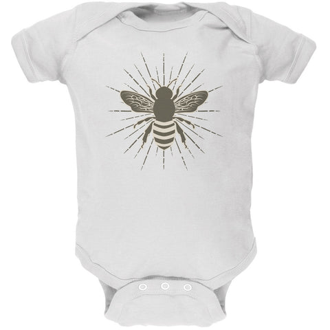 Bumble Bee Rays White Soft Baby One Piece
