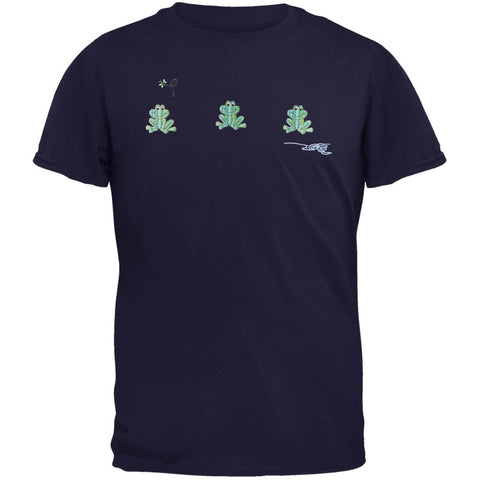 Pond Frog Embroidered T-Shirt
