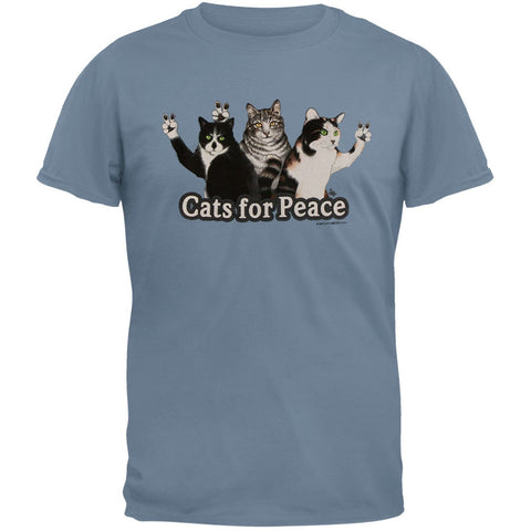 Cats For Peace Adult T-Shirt