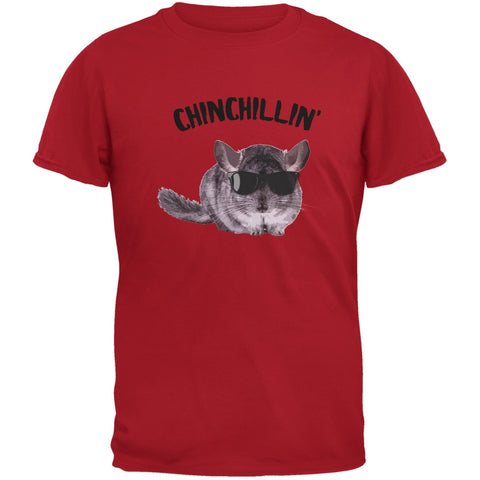 Chinchillin Chinchilla Red Adult T-Shirt