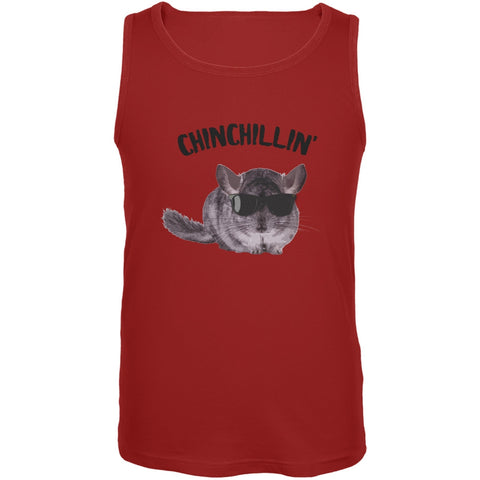 Chinchillin Chinchilla Red Adult Tank Top