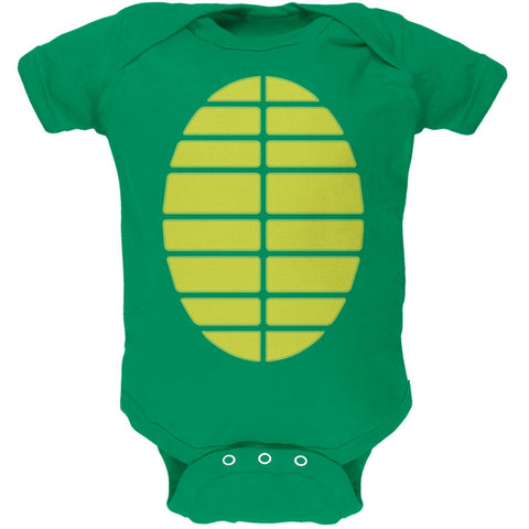 Halloween Turtle Costume Kelly Green Soft Baby One Piece