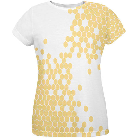 Honeycomb Bees All Over Womens T-Shirt