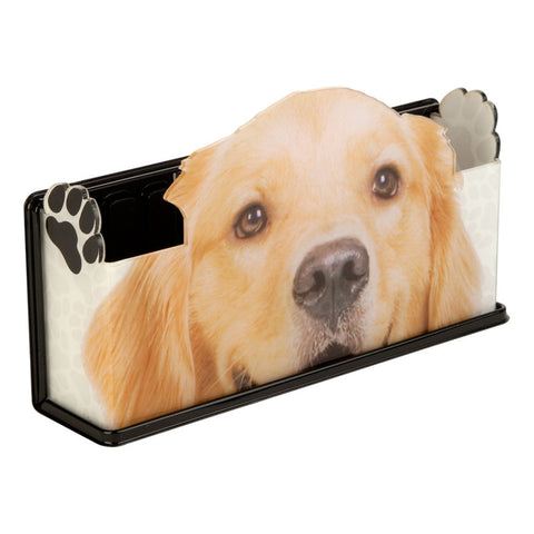 Golden Retriever Fun Magnetic Caddy Basket Organizer