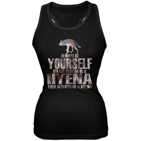 Always be Yourself Hyena Black Juniors Soft Tank Top