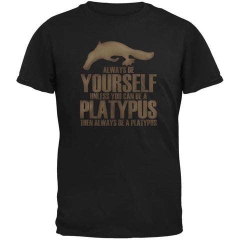 Always be Yourself Platypus Black Youth T-Shirt