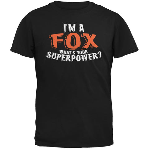 I'm A Fox What's Your Superpower Black Adult T-Shirt
