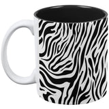 Zebra Print White All Over Coffee Mug