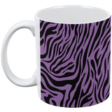 Zebra Print Purple All Over Coffee Mug