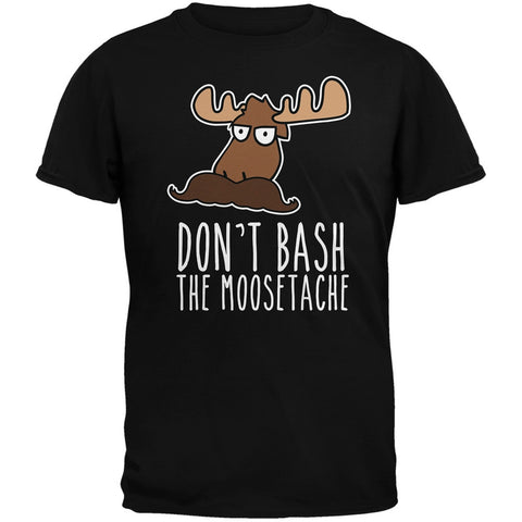Don't Bash the Moostache Black Adult T-Shirt