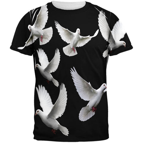 Doves All Over Adult T-Shirt