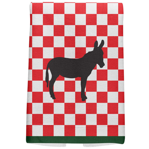 Country Kitchen Checkerboard Donkey All Over Hand Towel