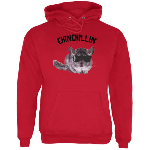 Chinchillin Chinchilla Red Adult Hoodie