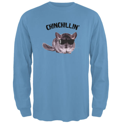 Chinchillin Chinchilla Carolina Blue Adult Long Sleeve T-Shirt