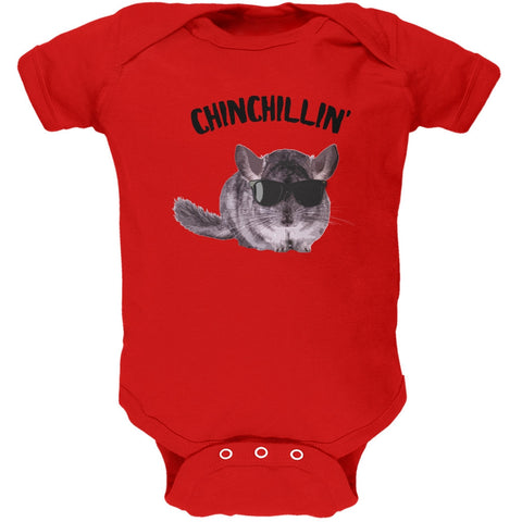 Chinchillin Chinchilla Red Soft Baby One Piece