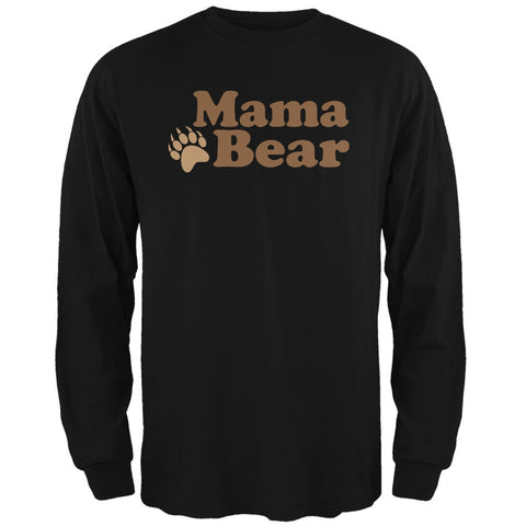 Mothers Day - Mama Bear Black Adult Long Sleeve T-Shirt