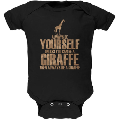 Always Be Yourself Giraffe Black Soft Baby One Piece
