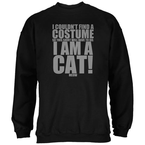 Halloween Cheap Cat Costume Black Adult Sweatshirt