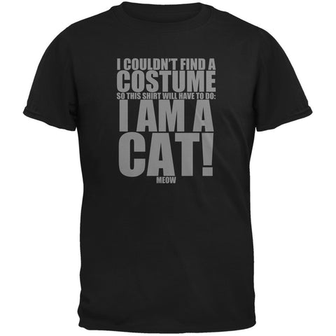 Halloween Cheap Cat Costume Black Adult T-Shirt