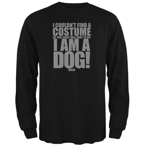 Halloween Cheap Dog Costume Black Adult Long Sleeve T-Shirt
