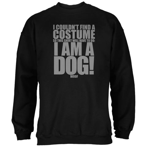 Halloween Cheap Dog Costume Black Adult Sweatshirt