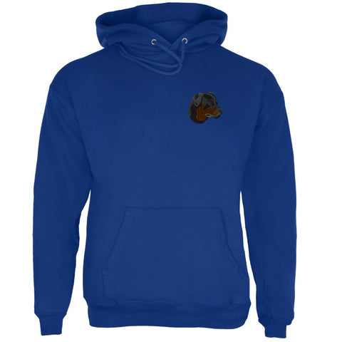 Dog Rottweiler Rotti Face Deep Royal Adult Hoodie
