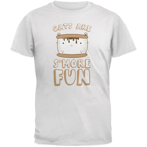 Cats Are S'More Fun White Youth T-Shirt