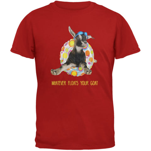 Whatever Floats your Goat Boat Red Adult T-Shirt