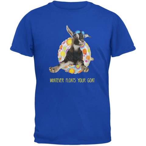 Whatever Floats your Goat Boat Royal Adult T-Shirt